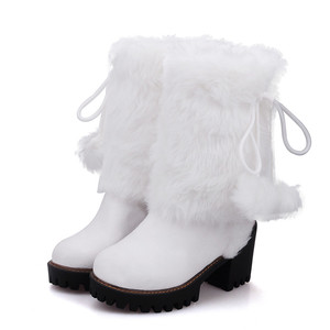Image 4 - MORAZORA 2020 new arival winter warm snow boots women round toe ankle boots faux fur comfortable platform shoes ladies booties