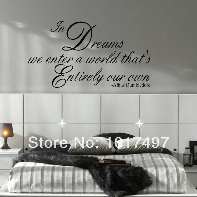 LARGE size 95x53cm HARRY POTTER QUOTE DREAMS ENTER OWN WORLD WALL DECAL STICKER ART TRANSFER free shipping m2032