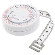BMI Body indeks masy chowana taśma 150cm miarka kalkulator dieta utrata masy ciała taśma miernicza narzędzia tanie tanio OOTDTY Maszyny do obróbki drewna 1 5 M Z tworzywa sztucznego 1A60052 Up to 150cm 0 095kg (0 21lb ) White