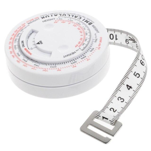 Bmiボディマス指数格納式テープ150センチメジャー電卓ダイエット減量テープ対策ツール