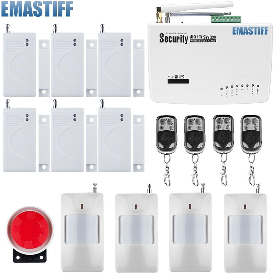 Wireless GSM Intruder Burglar Dual Antenna Alarm Systems Security Home Wireless Signal PIR/Door Sensor Russian voice Manual