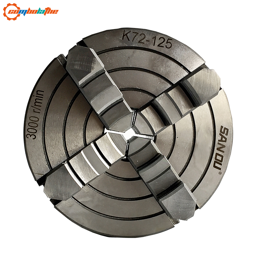 K72 125 small lathe chuck 125mm 5 inch K72 125 with jaw hardened steel for mini