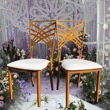 Золотой свадебный стул есть стул для Banque свадьбы момент столовая вечерние и сбор