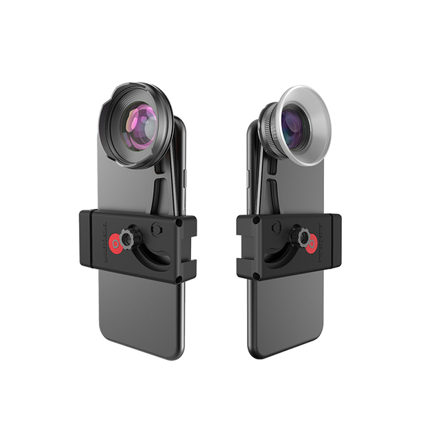 Benro 고품질 전화 렌즈 키트 전화 클램프 + 110 광각 광각 렌즈 + 15 75 마이크로 렌즈 마이크로 렌즈