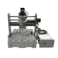 300W Cnc Milling Machine 3040 Mini 3axis Wood Router Work Area 200 300 80mm