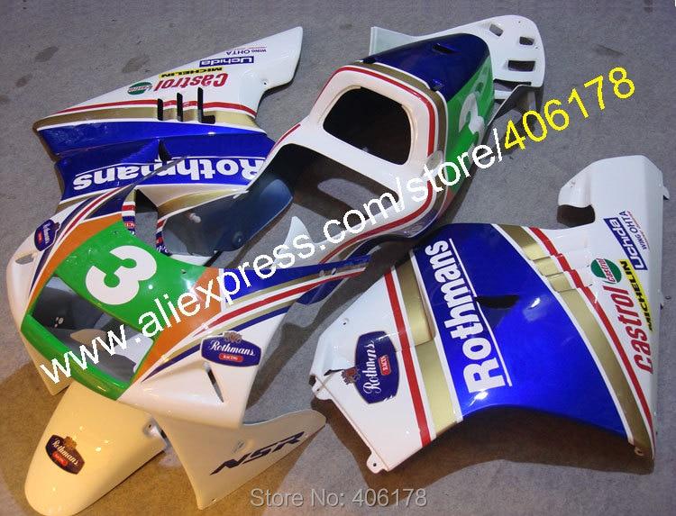 Hot Sales,For Honda NSR250R MC21 90 91 92 93 NSR250 1990-1993 NSR 250 R Rothmans Motorcycle fairings (Injection molding)