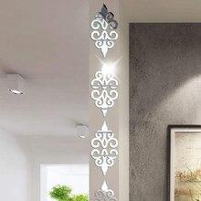 10PC wielkoformatowe kwadratowe samoprzylepne płytki 3d naklejki ścienne z efektem lustra naklejka mozaika do dekoracji domu salon ganek plakat na ścianę A1