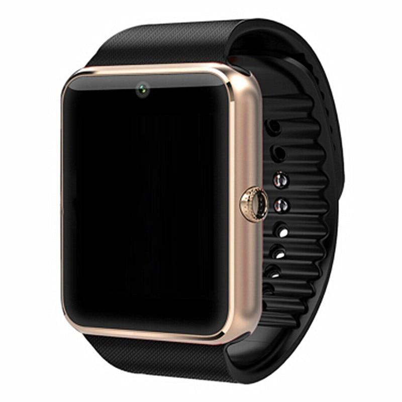 imágenes para Gt08 para apple iphone ios android teléfono bluetooth reloj inteligente Desgaste de la muñeca Soporte de Sincronización de reloj inteligente Tarjeta Sim PK DZ09/GV08S/U8