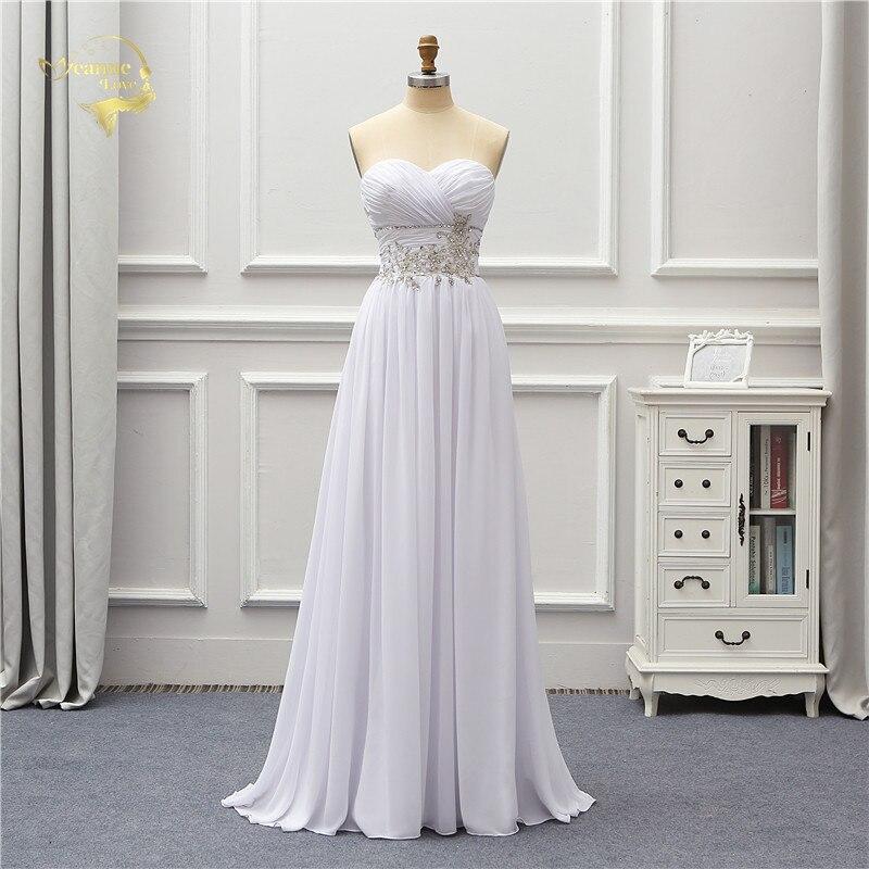 Jeanne Love Chiffon Beach Wedding Dress 2019 Applique Lace Robe De Mariage JLOV75995 Vestido De Noiva Brida Dresses Wedding Gown