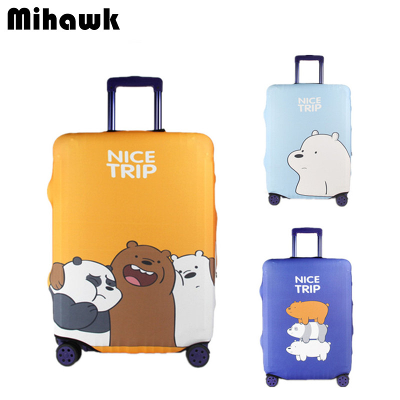 Cute Elastic Luggage Protective Cover Personality Thick Cartoon Waterproof Suitcase Dust Bags Travel Accessories Supply Product