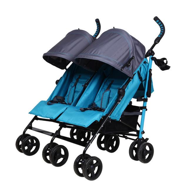 Gêmeos Carrinho De Bebê de alta Qualidade Portátil Dobrável Carrinho De Bebê Gêmeos Gêmeos Carrinho De Peso Leve À Prova de Choque de Carro Do Bebê Pode Sentar Mentindo C01