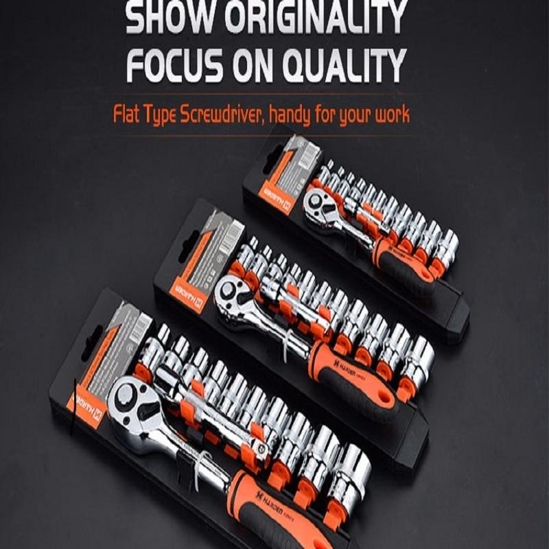 ФОТО 13PCS 10mm Hand Tool Professional Sockets Set