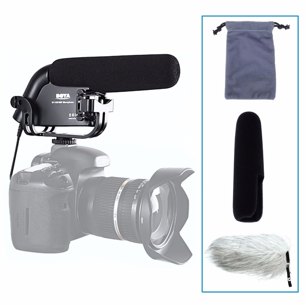 BOYA BY-VM190P Camera Stereo Video Condenser Shortgun Microphone for Canon for Nikon for Pentax DSLR Camera Camcorder