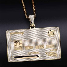 Pendant Necklace Custom Name Jewelry Gifts Cubic-Zircon Gold-Color Personal Men's New