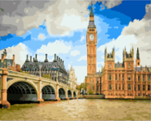 "DIY Painting By Number – London City (16""x20"" / 40x50cm)"