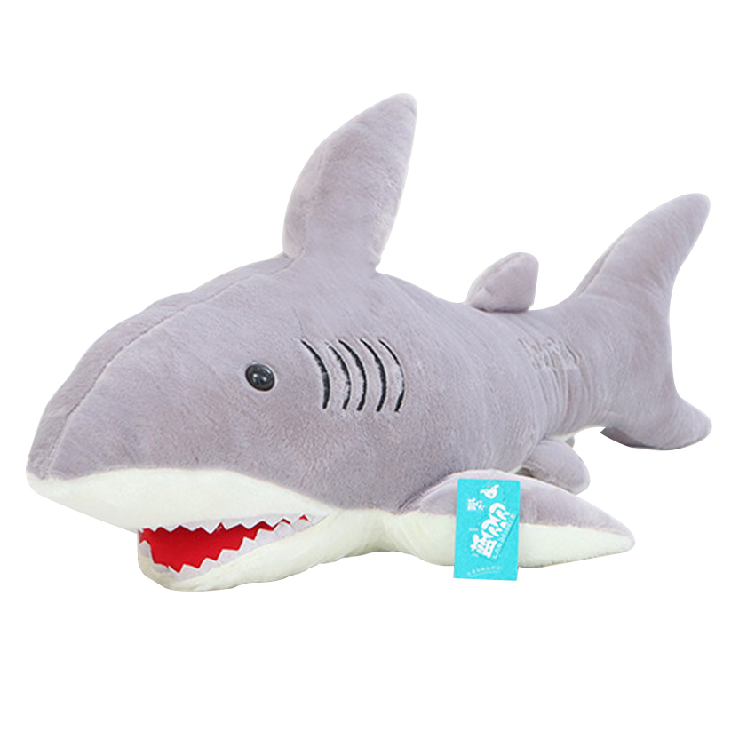 High Quality 70cm Shark Plush Toy Stuffed Pillow Doll Birthday Gift Kids Toy Baby Toy Nice Brinquedos for Children 110cm cute panda plush toy panda doll big size pillow birthday gift high quality