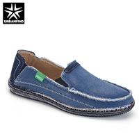 New Fashion Men Denim Canvas Loafers Size 39 45 Popular Style Man Slip On Summer Casual
