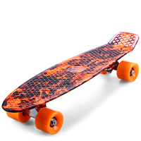 CL 78 22 inch Skate Board Hellfire Pattern Retro Skateboard Longboard Mini Cruiser for Child Adult Outdoor Sport
