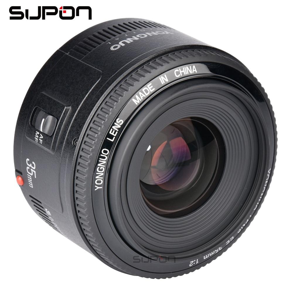 Objectif YONGNUO 35mm YN35mm F2.0 objectif grand angle grande ouverture objectif fixe à mise au point automatique support EF pour appareils photo reflex numériques Canon 600D 60D 5D