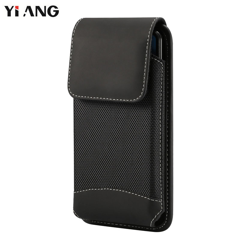 YIANG Brand Men Universal Oxford Cloth Waist Bag Belt Clip Holster Fanny Pack Durable Outdoor Mobile Phone Pouch 4.7~6.5 Inch
