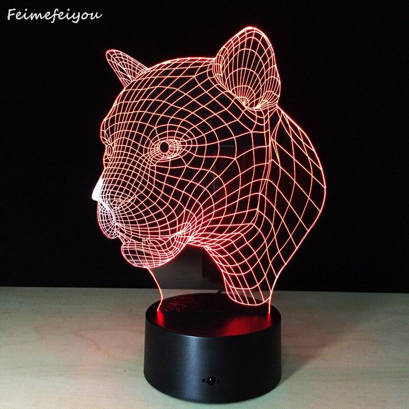 2018 cabeza de leopardo lámpara de inducción lámpara LED nuevos productos de inteligente regalo creativo puesto 3D luz nocturna visual control Remoto 5 mW 5 KM localizador de fallas visuales equipo de prueba de Cable láser de fibra óptica