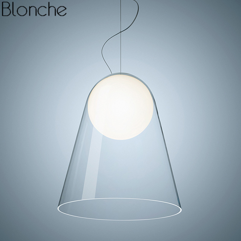 Italy Foscarini Glass Suspension Pendant Lights Modern Led Ball Hanging Lamp Dining Room Table Satel Light Fixtures Home Decor