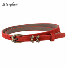 2019 Limited Retro Butterfly Buckle Strap For Women Dresses 2017female Leather Belt Brand font b Slimming