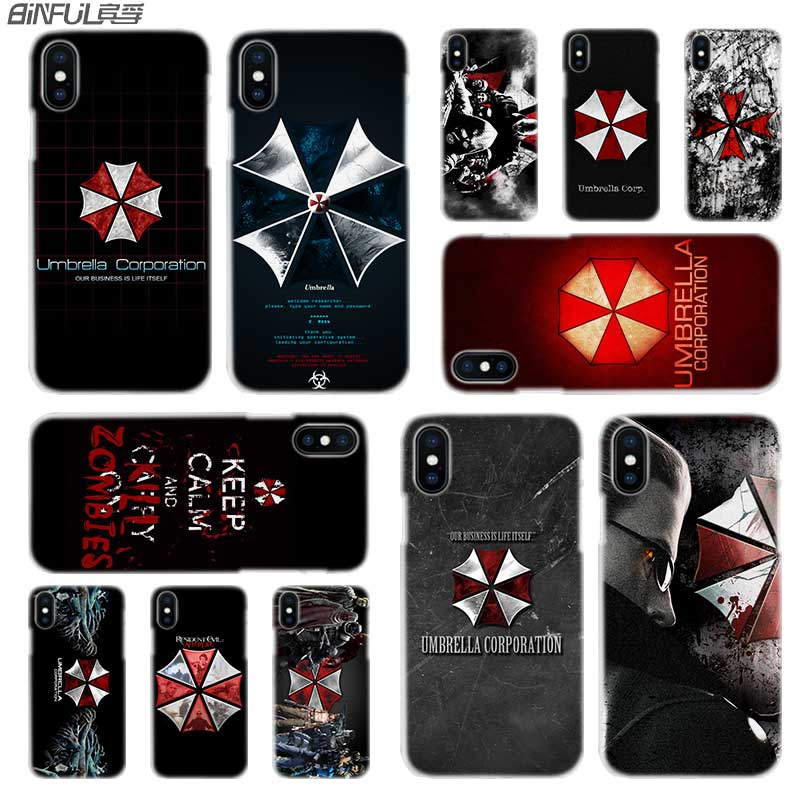 Phone Bags & Cases 2019 Fashion Resident Evil Umbrella Corporation Hot Fashion Transparent Hard Phone Cover Case For Iphone X Xs Max Xr 8 7 6 6s Plus 5 Se 5c 4