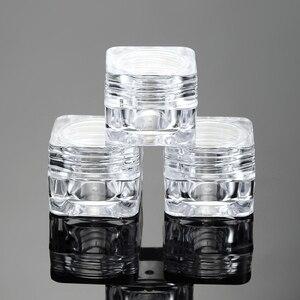 Image 3 - 50 יחידות 5 גרם בקבוק צנצנת ריקה קוסמטיקה פוט צללית קרם פנים מיכל אקריליק עבור מוצרי טיפוח עור קרמים כלי איפור