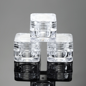 Image 3 - 50 sztuk 5G kosmetyczne pusty słoik Pot Eyeshadow pojemnik na krem do twarzy butelka akrylowa do kremów produkty do pielęgnacji skóry przybory do makijażu