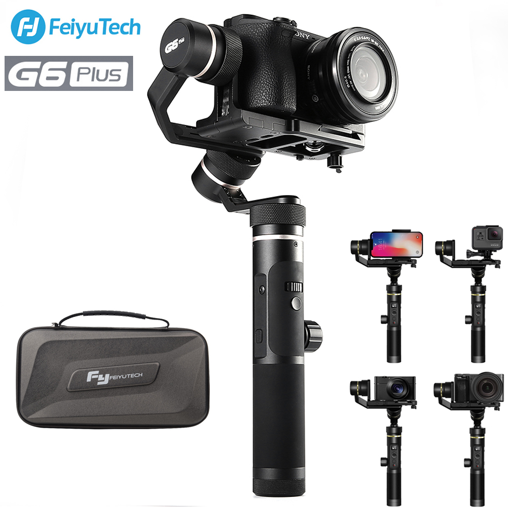 FeiyuTech Feiyu G6 Plus 3-Axes De Poche Cardan Stabilisateur pour appareil Photo Sans miroir de Poche Caméra GoPro Smartphone Charge Utile 800g