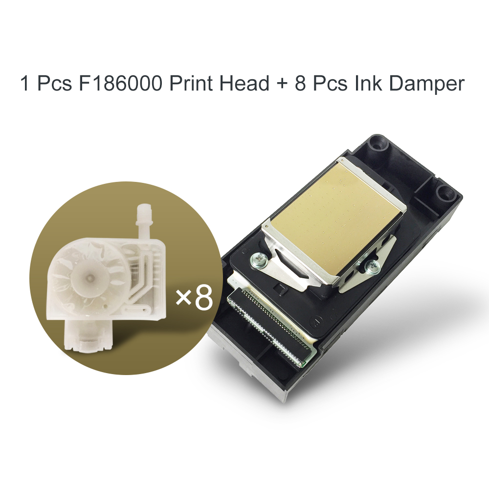 DX5 Print Head F186000 UV Printhead DX5 Solvent Print Head For Epson R1800 R1900 R2000 R2400 R2880 R4800 With Free Ink Damper