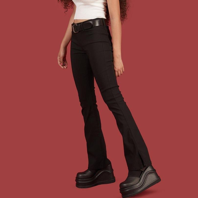 2019 Womens Black High Waist Slimming Legs Long Tight -4560