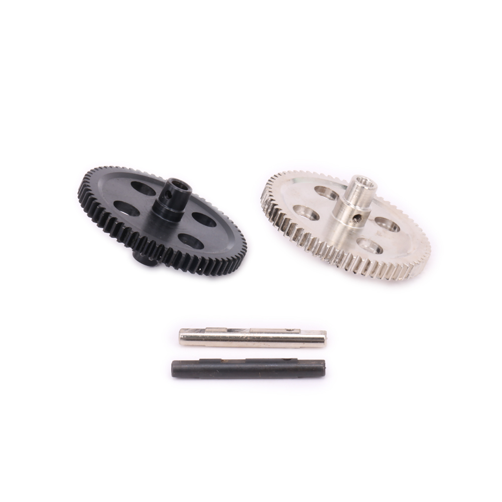 1PC Iron Black #45 Steel Silver Center Reduction Diff Big Gear For Rc Hobby Model Car 1-12 Wltoys 12428 1242 0115 Hopup Parts