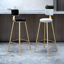 Кованый барный стул в скандинавском стиле, современный минималистичный домашний обеденный стул с спинкой, высокий стул для кафе, барный стул, барный стул