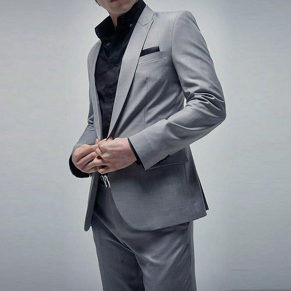 89bcc15a10 ... (Jacket+Pant) Luxury Men Wedding Suit Man Blazers Slim Fit Suits For Men  ...