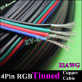10meter 22AWG WIRE&cable 4pin RGB cable for RGB stirp extend Wire 4 color cables Tinned copper extension wire PVC free shipping