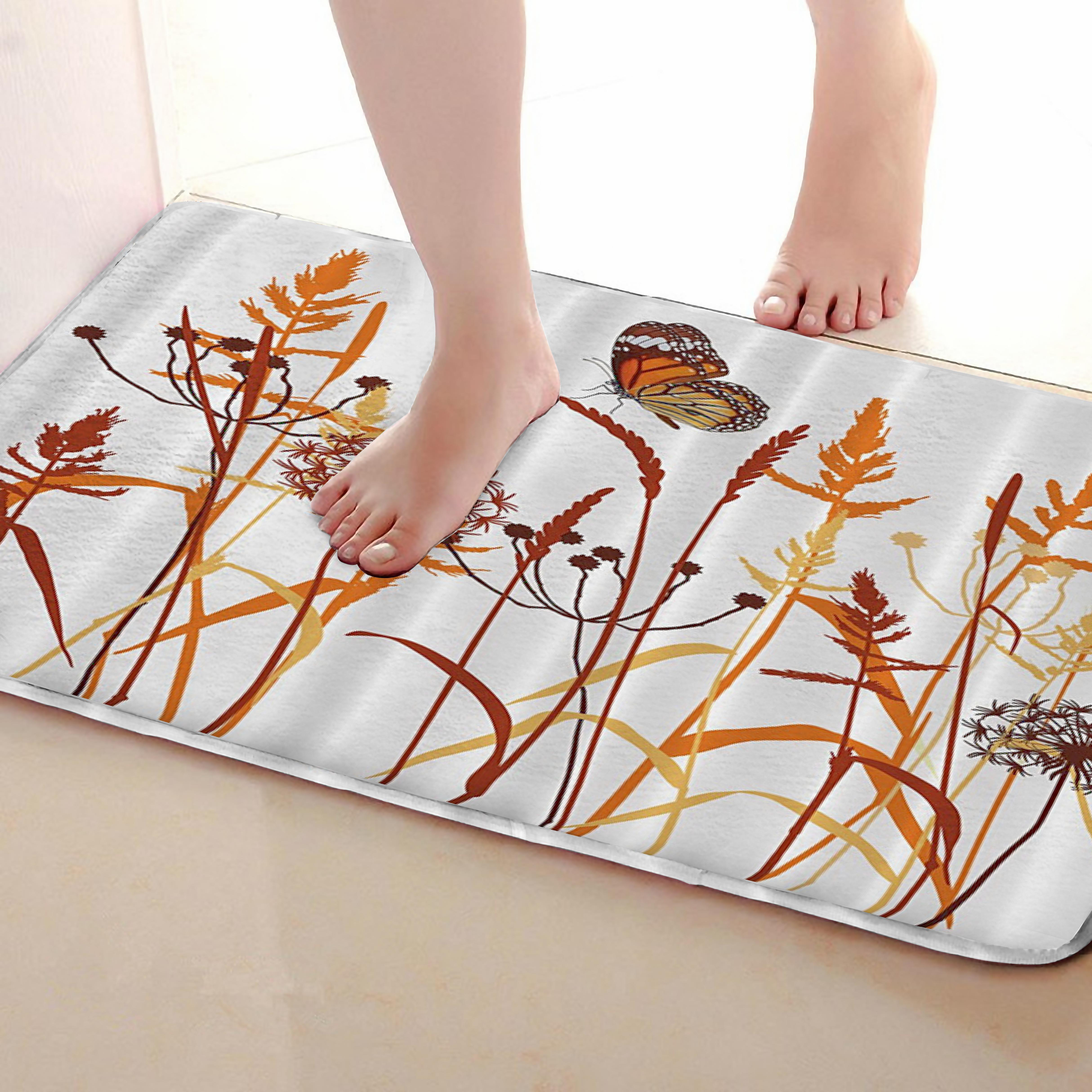 Dandelion Style Bathroom Mat,Funny Anti skid Bath Mat,Shower Curtains Accessories,Matching Your Shower Curtain