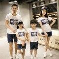 Летом 2017 семья Посмотрите Папа Мама Ребенок хлопка футболку семьи сопоставления одежда детская одежда D818