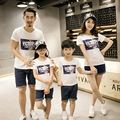 summer 2017  family Look Dad Mom Baby cotton t-shirt  family matching clothes  Children's clothing D818