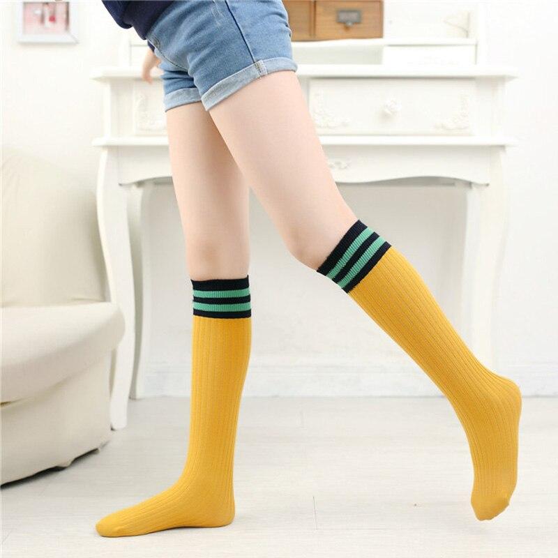Kleinkind Mädchen Kniestrümpfe College Style Oberschenkel Student Sport Socken Baby Mädchen Streifen Herbst Socken Socken, Strumpfhosen & Leggings Mädchen Kleidung