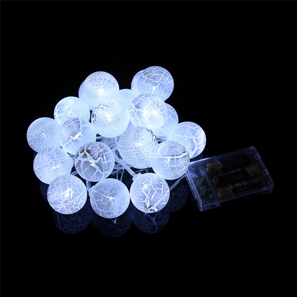 SXZM 2M 20LED Cracked Ball Fairy String light Fashion Holiday Lighting  Wedding Garden Party Christmas indoor Decoration-in Holiday Lighting from  Lights ... 96bb1cd76d3a