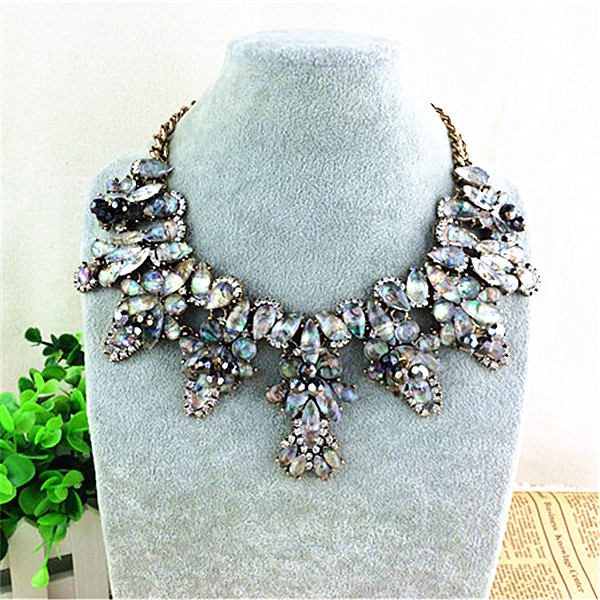 New brand fashion crystal necklaces pendants costume chunky choker new brand fashion crystal necklaces pendants costume chunky choker flower collar necklace statement luxury jewelry for women in pendant necklaces from aloadofball Gallery
