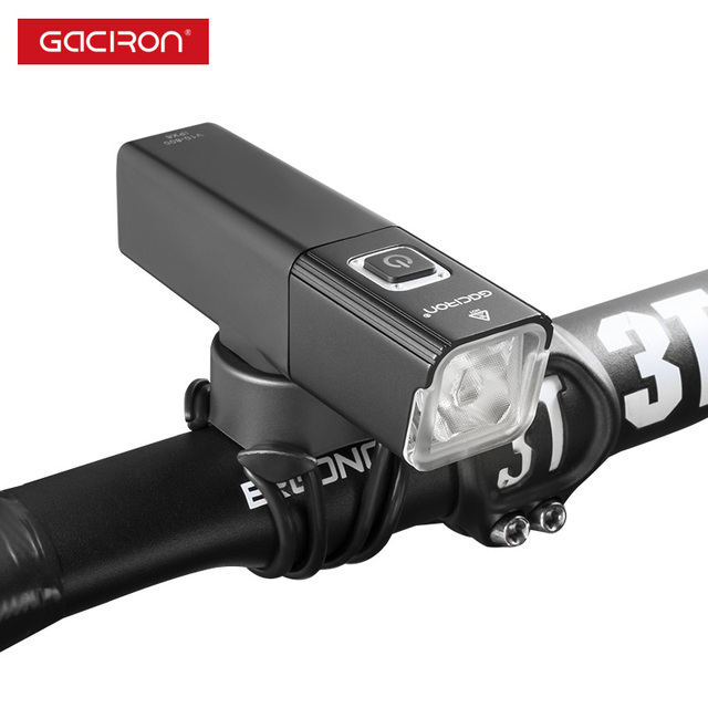 GACIRON 800LUMEN Bicycle Front Light USB Rechargeable LED Lamp Cycling Waterproof Bike Headlight Flashlight Accessories