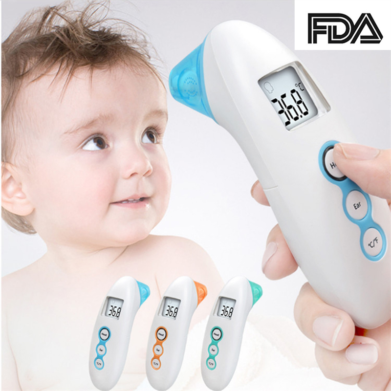 2 in 1 Non-Contact Baby Thermometer Digital Infrared thermometer for Baby Forehead Ear Measurement with Fever Alarm Termometro