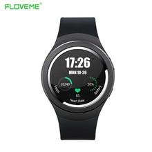Floveme smart watch sim-karte wifi bluetooth smartwatch auf handgelenk für android ios pedometer fernbedienung-sms männer montres