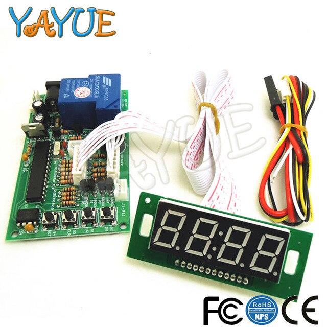 Fuente de alimentación placa controladora del temporizador con 6 tipos aceptador de monedas para máquina expendedora de Arcade con plomo blanco de 40cm, JY-15B