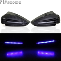 PAZOMA Motorcycle Black X T armac Handguards Blue LED Hand Guards Protectors Motorbike For HONDA CB1000R 2011 2015