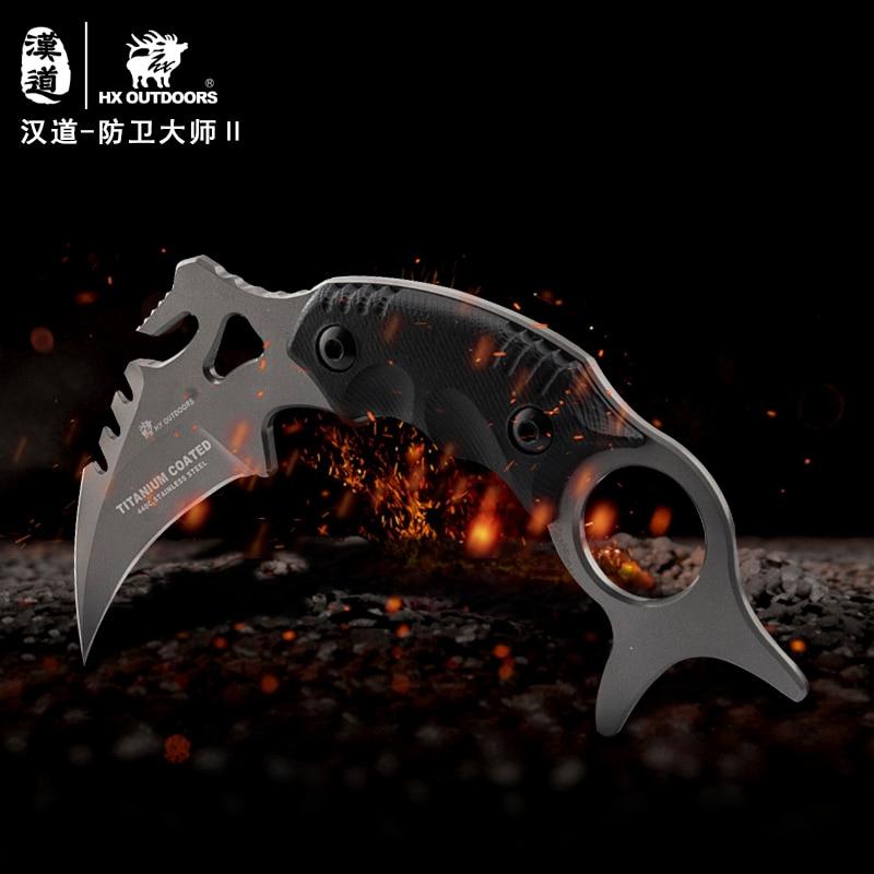 HX VÄLISKUJAD Karambit fikseeritud teraga nuga 440C titaankattega - Käsitööriistad - Foto 5