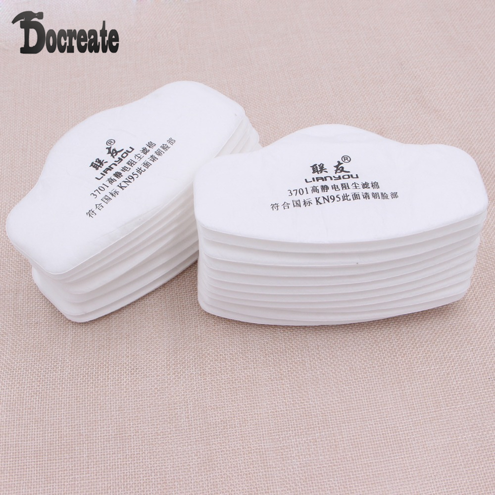 20Pcs 3701CN Filter Cotton For 3M 3200 3700 Gas Mask